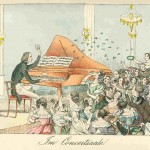 Liszt in the concert salon, 1842